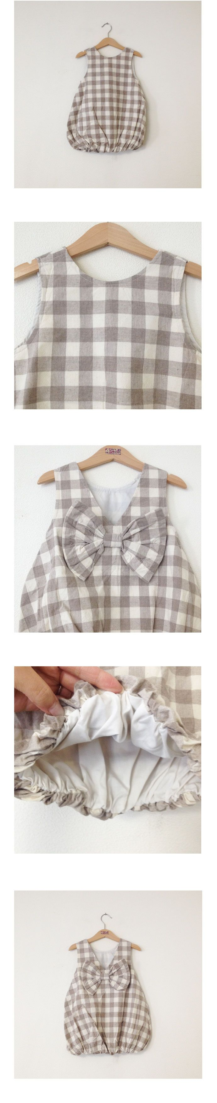 "kukka select バックリボンバルーンワンピース(ベージュ)- Amber(アンバー)・Annika(アニカ)など可愛い韓国子供服・ベビー服通販ショップ【KUKKA PAKETTI クッカパケッティ】ちょっぴり背伸びしたSweet&Cuteな女の子服から、レトロな北欧系まで、女の子の""かわいい""が叶うアイテムを厳選セレクト。"