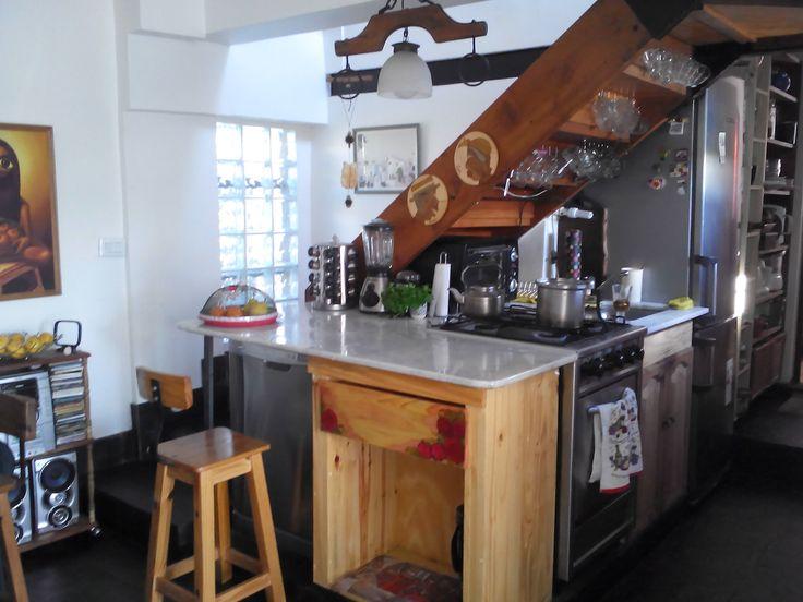 En poco espacio diseñé mi cocina