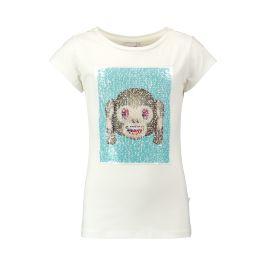 CoolCat T-shirt met Emoji print voor meisjes. Het T-shirt heeft een normale fit, ronde hals en korte mouwen. De Emoji print is gemaakt van magische pailletten die veranderen wanneer je ze omhoog of omlaag strijkt.