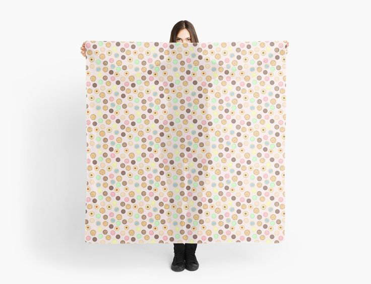 Cookies Pattern Scarves by AnMGoug on Redbubble. #cookies #scarf