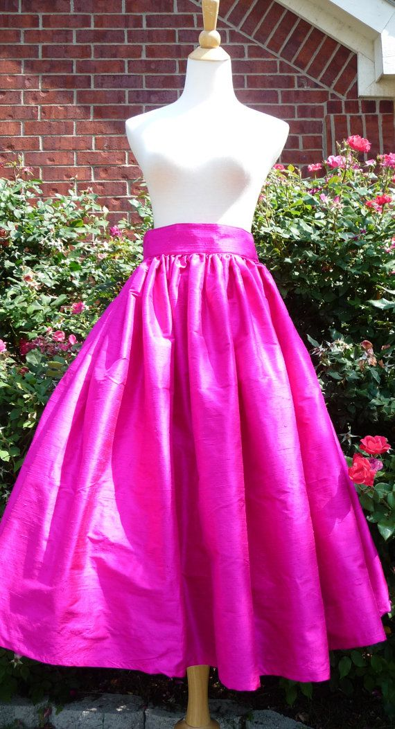 Raw SIlk  Floor Length SKIRT   Pick your own by BoutiqueMiaByCXV