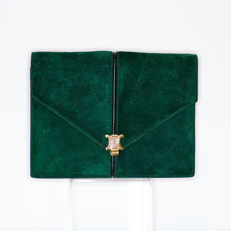 1970s Celine green suede bag