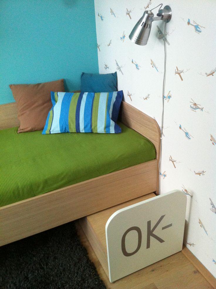 Realizace pokoje chlapeckého pokoje.