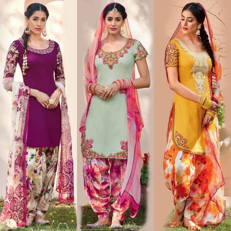 SPRING IN THE AIR: Check out our new arrival cotton punjabi suits - all styles in this collection are $85 USD @ Lashkaraa.com!
