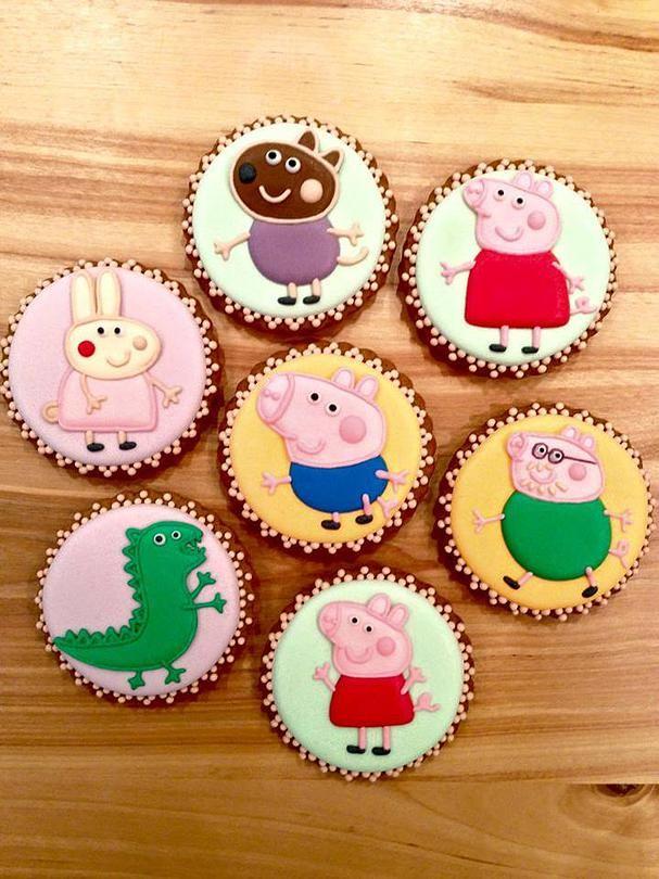 Свинка Пеппа и её друзья - набор пряников #Свинка #Пеппа #Peppa #Pig #cake #пряник