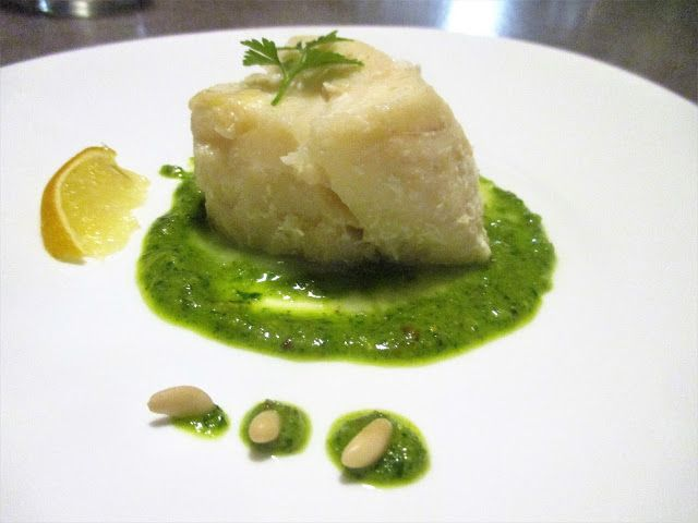 FORNELLI IN FIAMME: SLICE OF COD WITH PIEDMONTESE GREEN SAUCE - Tranci...