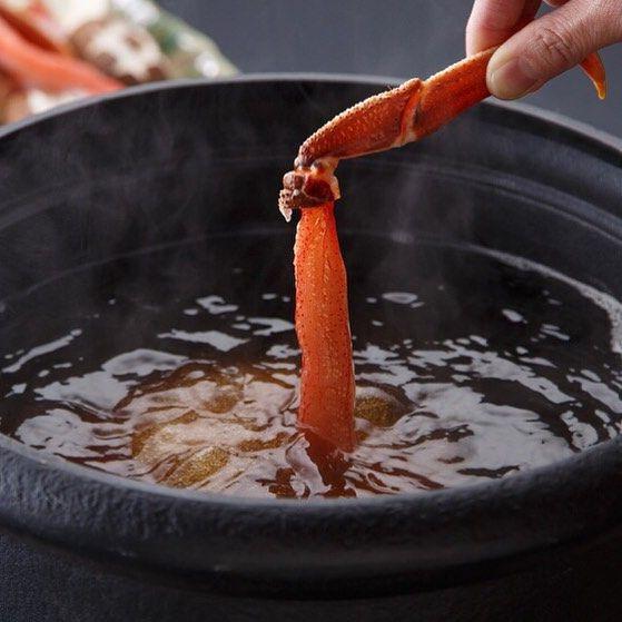 [New Flagship dish] Snow crab Shabu-shabu hot pot  北大路のフラッグシップ蟹 北海道産ずわい蟹のしゃぶしゃぶ鍋…