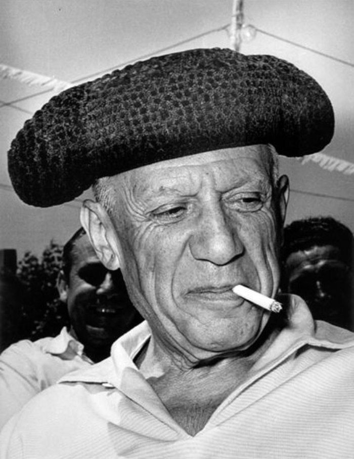 Picasso in Arles, 1955. Photo: Lucien Clergue.