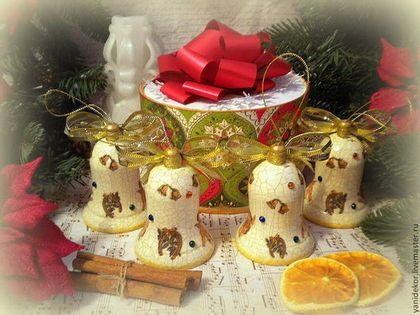 Набор елочных игрушек Винтажное Рождество.Елочные игрушки декупаж.Елочные украшения.Подарок на Новый год.