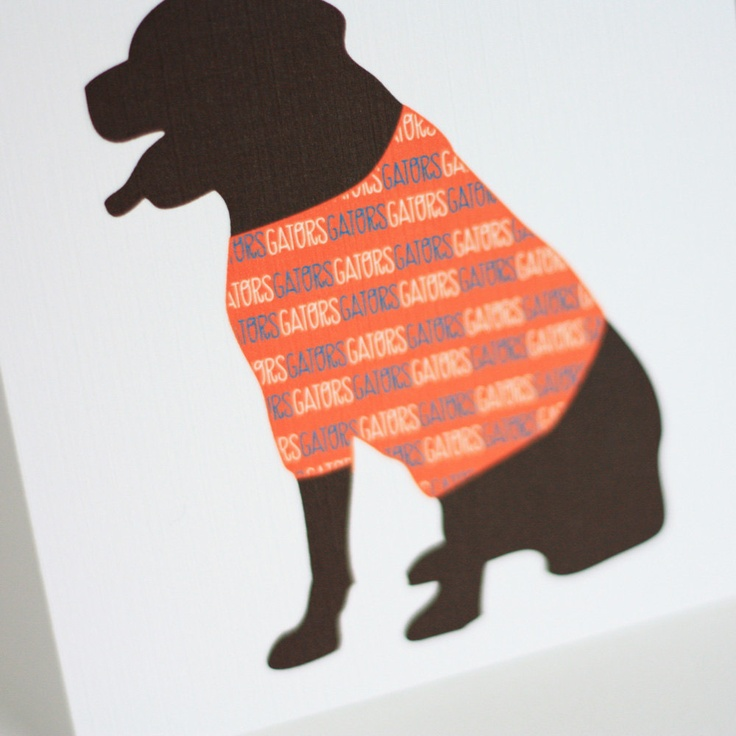 Dog Silhouette Note Cards