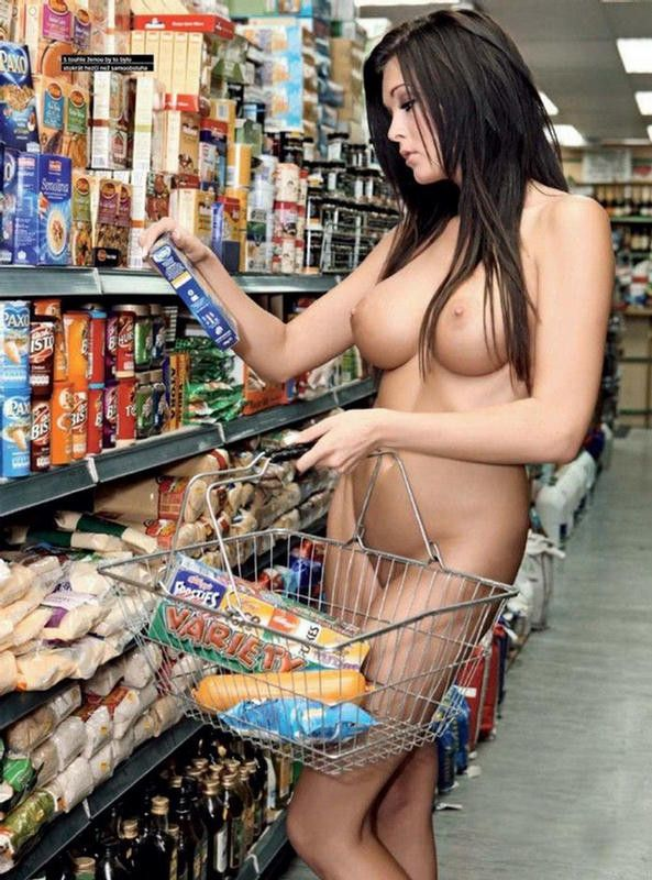 Girls nude grocery shopping have thought