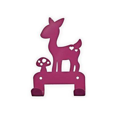 Kapstok hert donker roze. Coat hanger deer fushia kids room. #kidsdecor