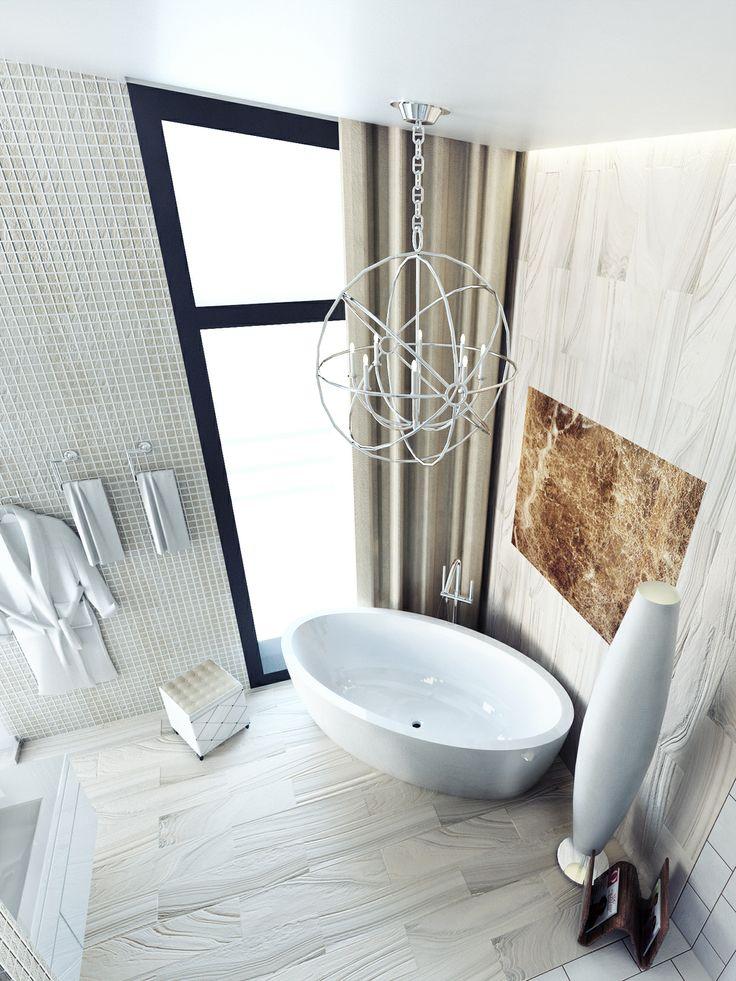 Дизайн ванной Вид сверху Bathroom design