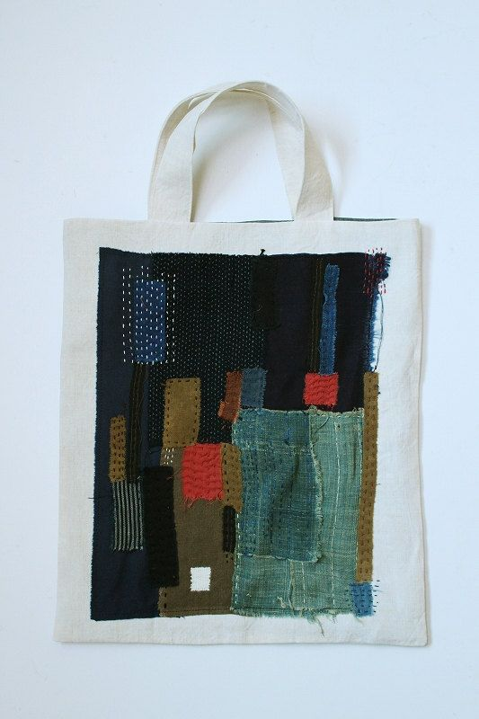 SASAKI-JIRUSHI (Antique linen)    These bags stock each 1,because were made using the vintage cloth.    Please check the stock situation.    Stock