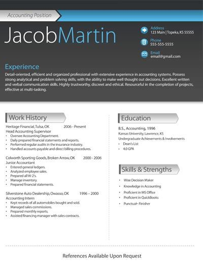 12 best Resume Formats images on Pinterest Resume design, Design - a sample of a resume