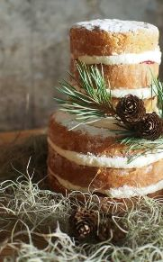 winter theme naked cake, St Andrews, Fife, Scotland. Loren Brand Cakes