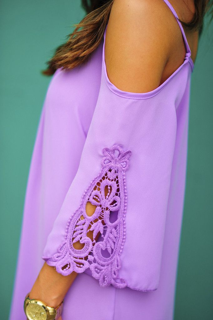 Love Me Forever Lace Dress: Purple Love this color. Wish you could see more of it.