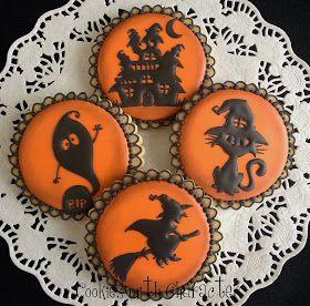 adorable halloween cookies so pretty - Halloween Cookie Decorations