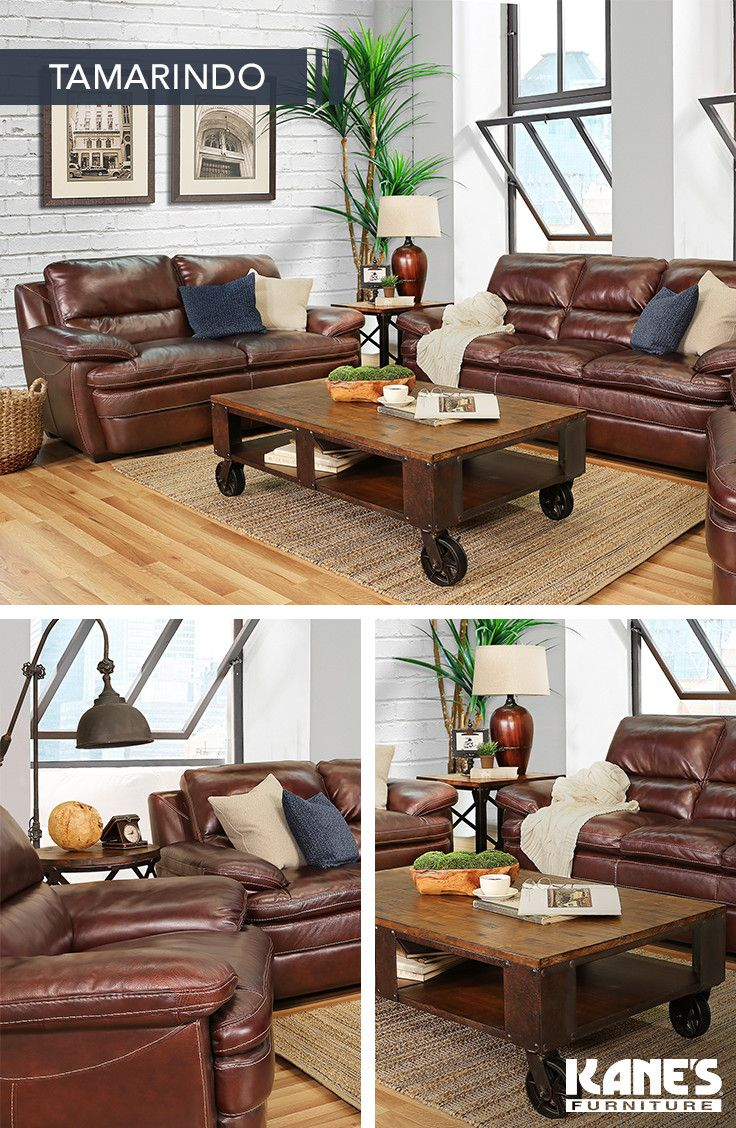 Tamarindo 5 Piece Leather Living Room RoomsUrban