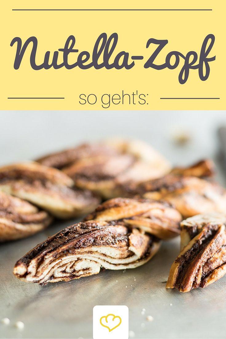 Heute kommt die geliebte Nutella mal nicht auf die Stulle, sondern in diesen herrlich buttrigen Hefezopf! Ein Traum von Rezept für alle Nutella-Addicts!