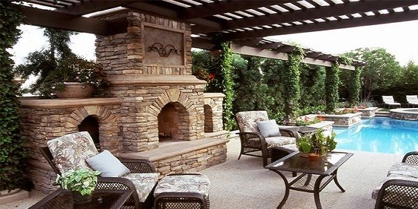 Enchanting Outdoor Fireplace Design