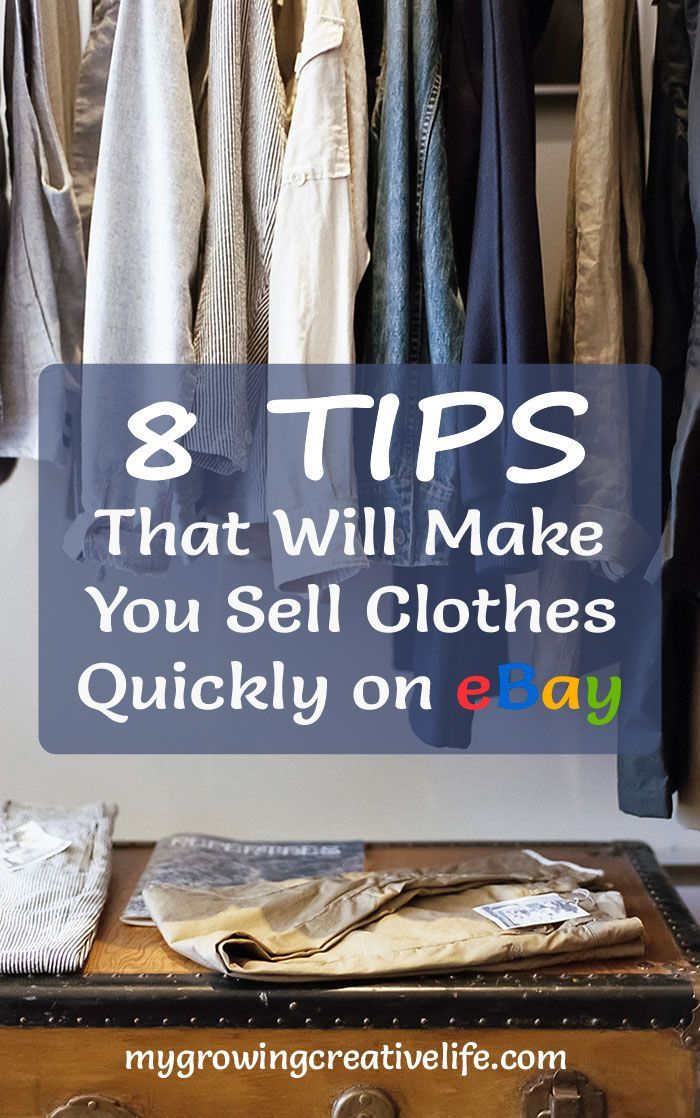 Make more space in your closet and money in your wallet by selling clothes on eBay.