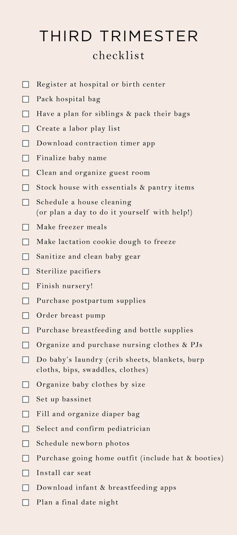 Everything On My 3rd Trimester To-Do List | The Mama Notes #thirdtrimester