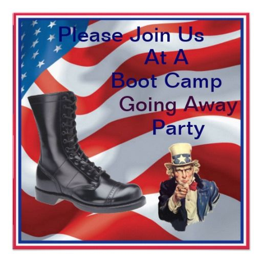 Marine Boot Camp Going Away Party Invitation