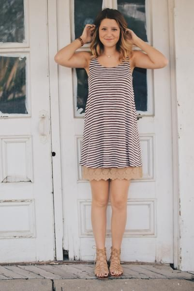 Dress up and add length to any old t-shirt dress with a lace extender! { lacistreet.com }