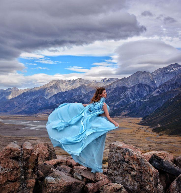 Mount Cook New Zealand Glam Photoshoot Fashion Photoshoot Models Photoshoot