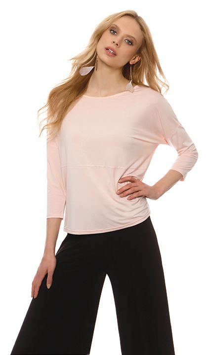 Tops : Blouse jersey with stockinette zaponis sleeves and cuff