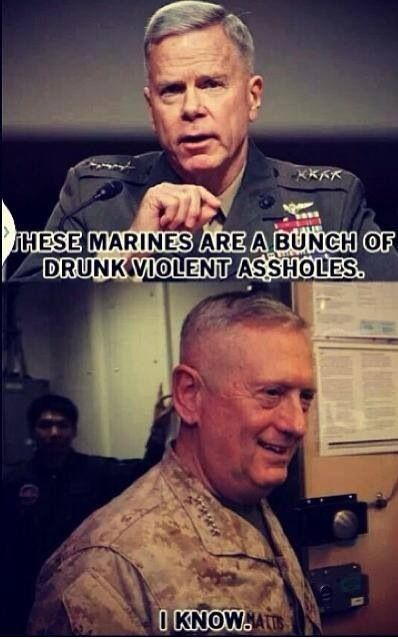 "The pansy known as Commandant Amos, and the legendary ""Mad Dog"" Mattis"