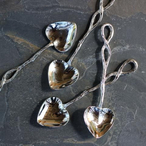 heart-shaped tea spoons for afternoon tea