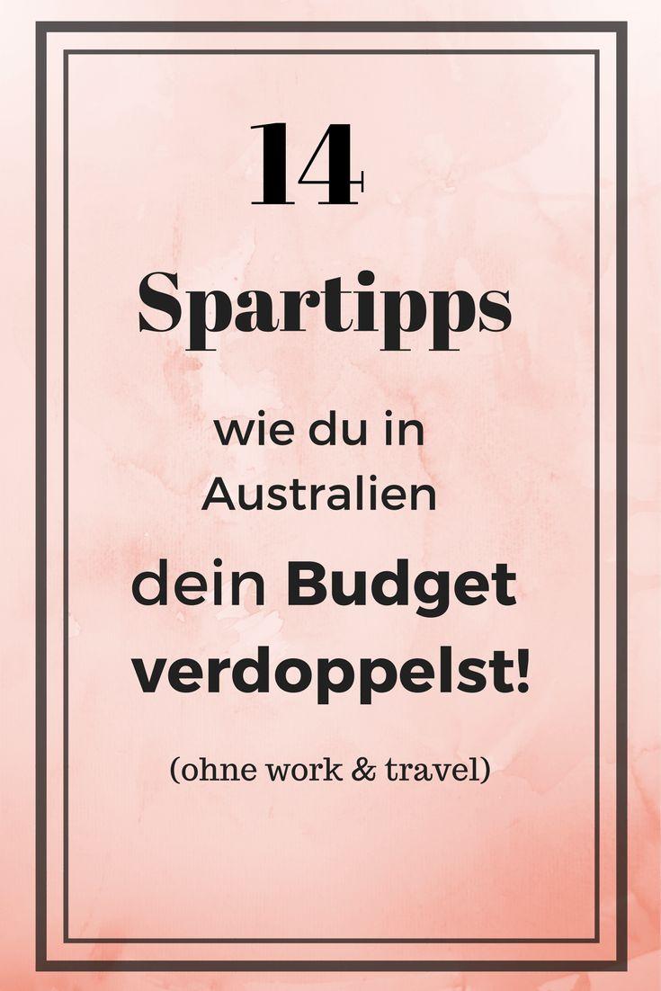 Spartipps für Australien   Budget Australien Reise