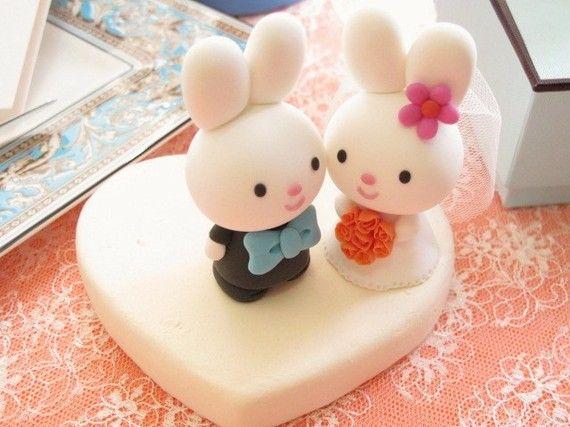 Pareja de novios conejos