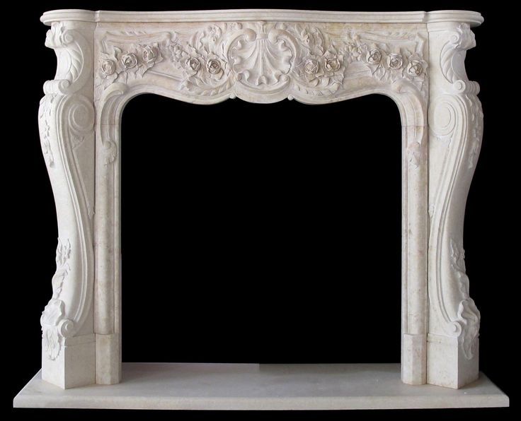 Fireplace with mirror and Art nouveau architecture