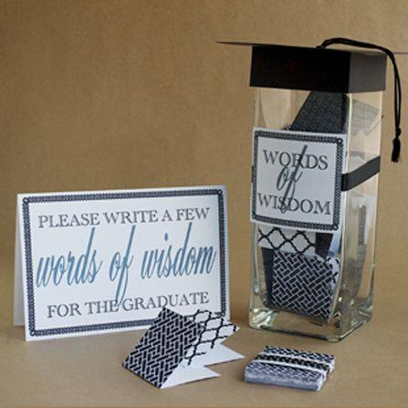 "The Entertaining Shoppe - Graduation Party - ""Words of Wisdom"" Memory Jar Kit - $26"