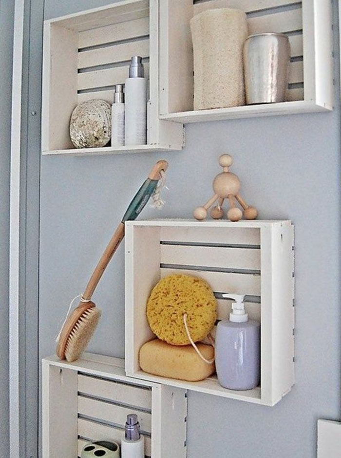 Best Space Saving Bathroom Ideas On Pinterest Small - Bathroom racks and shelves for small bathroom ideas