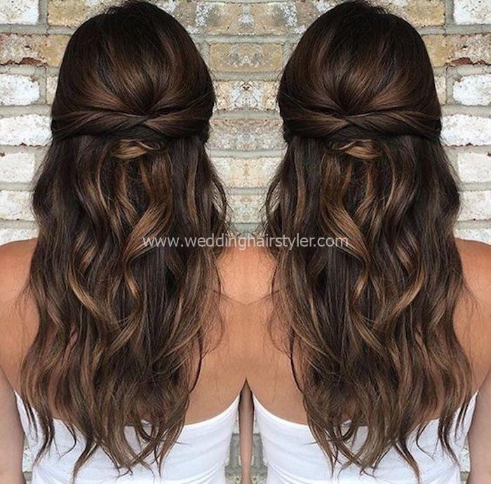 37 schöne halbe Frisuren für die moderne Braut -…
