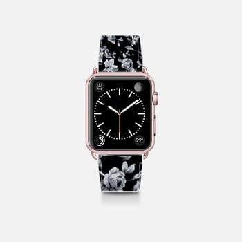 Apple Watch Band (38mm)  VINTAGE FLOWERS IN BLACK - APPLE WATCH