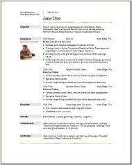 Sports Fitness Resume2