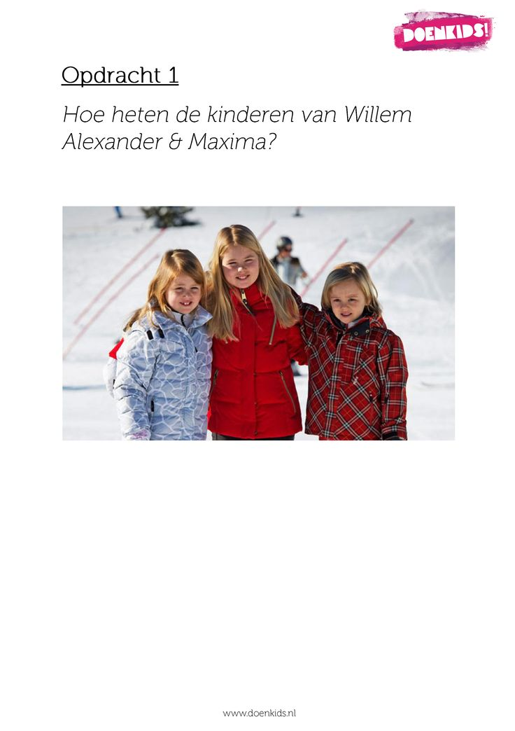 Speurtocht met koningsweetjes - www.activitheek.nl