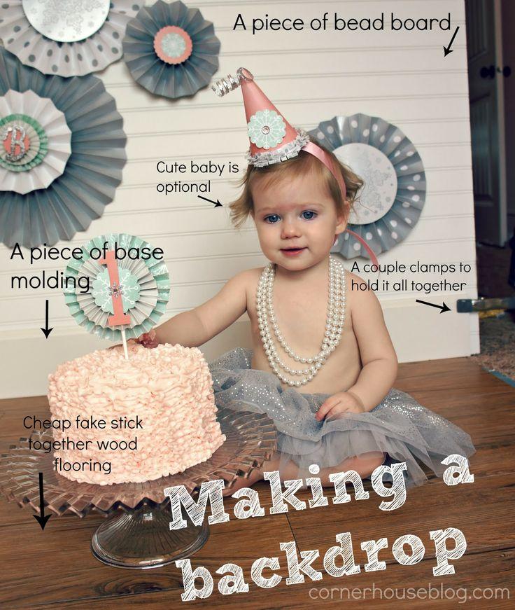 Cute DIY Cake Smash Tutorial - all the steps to make it happen! So cute!