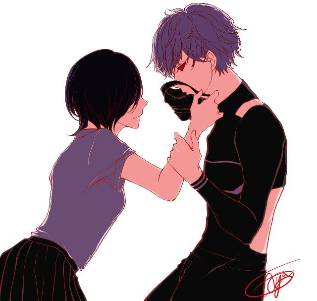 Tokyo Ghoul X: 1000+ Images About Touka And Kaneki On Pinterest