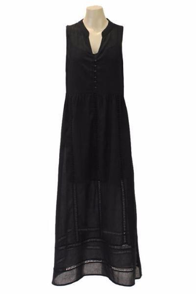 Jendi - 12-415 Maxi Dress- Black