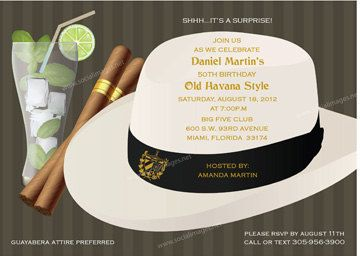 Havana Nights Party Invitation 25 Quantity by SocialImagesInc, $37.50