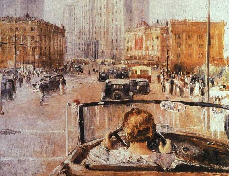 <i>New Moscow</i> by Yuri Pimenov (1937)