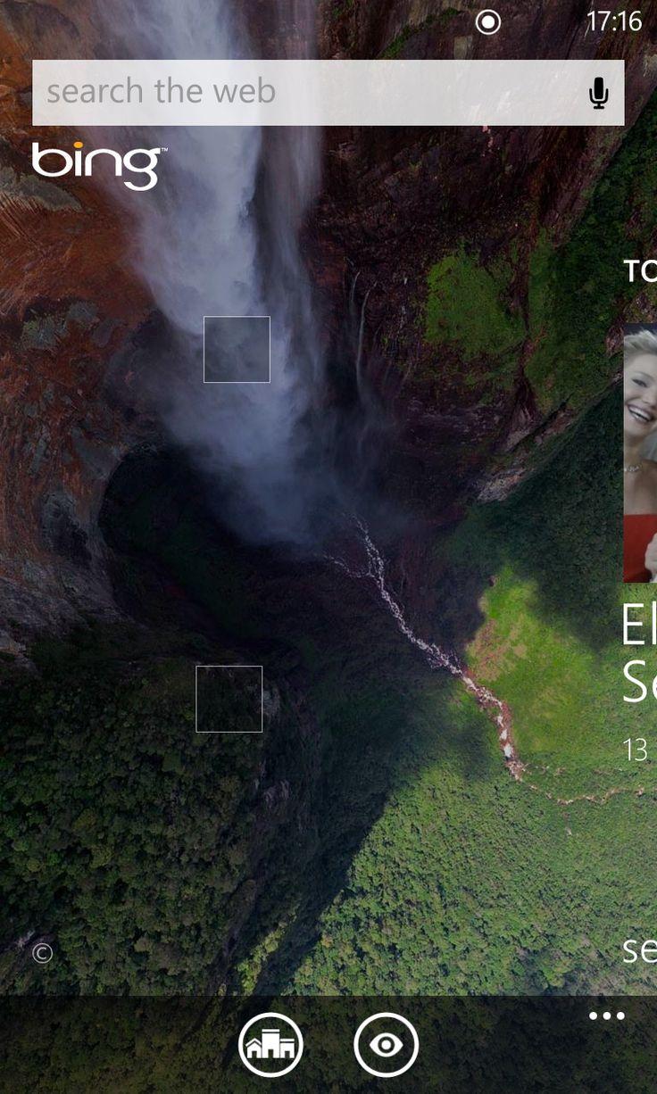 Windows Phone 8 built-in Bing functionality
