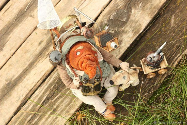 #carrot #cipollino #plushtoy #teddy #steampunk #handmade Купить Мистер Моркоу - рыжий, морковь, чиполлино, такса, стимпанк, плюш винтажный, опилки древесные