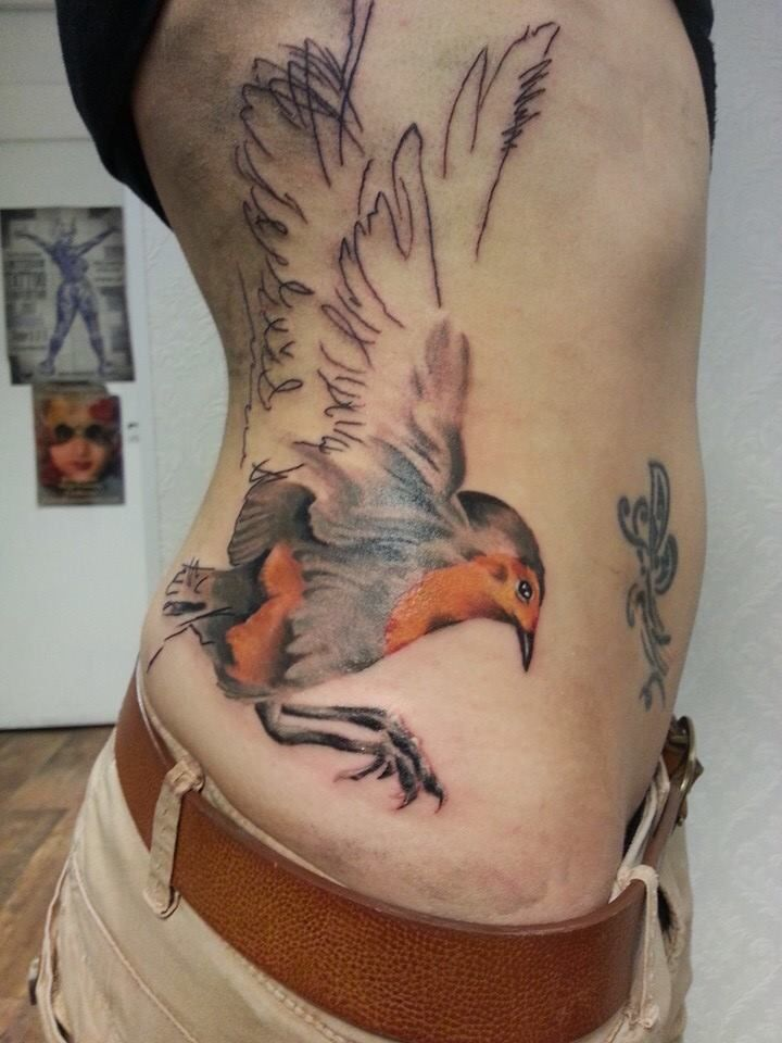 My lovely bird tattoo. It's half done, 23th of july i'm gonna get the rest!